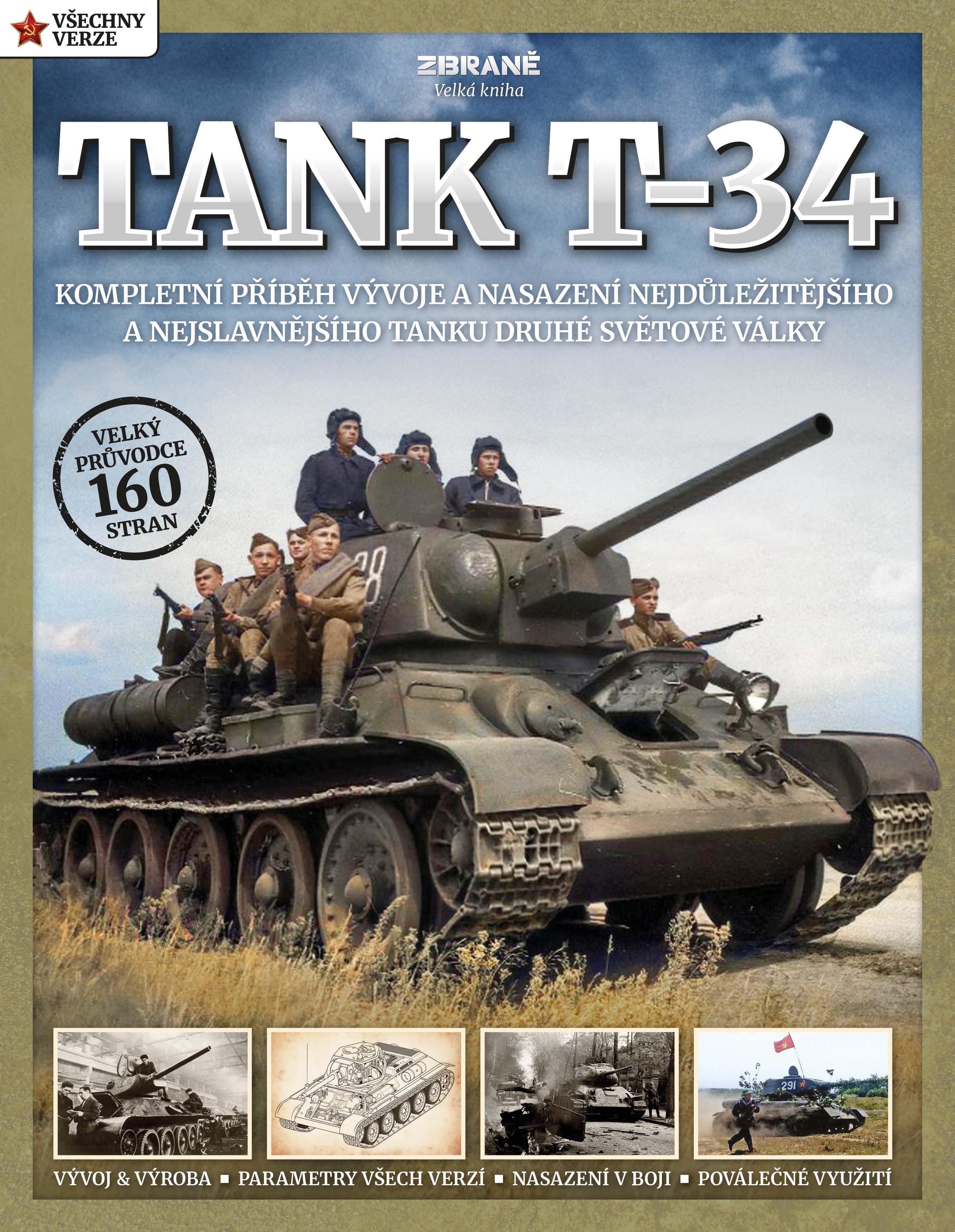 TANK T-34 (ZBRANĚ, VELKÁ KNIHA - ČASOPIS)