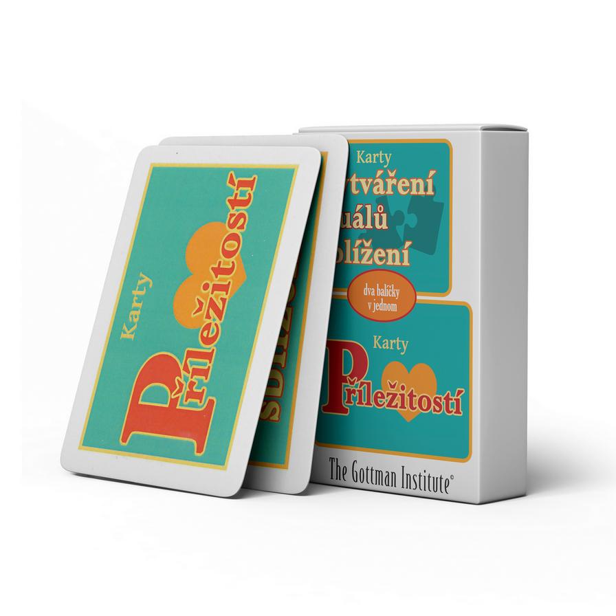 The Gottman Institute – Karty příležitostí + Karty pro vytváření rituálů sblížení (dva balíčky karet v jednom)